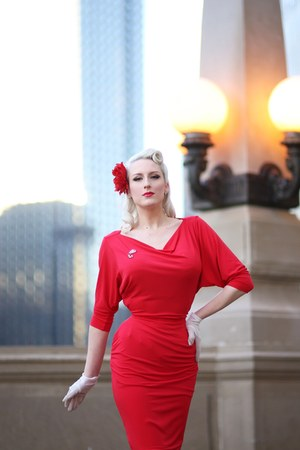 ruby red Zoe Vine dress