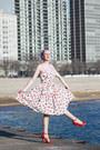 Red-cherry-bernie-dexter-via-unique-vintage-dress