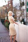 Ivory-knit-unique-vintage-dress-ivory-pillbox-white-purls-hat