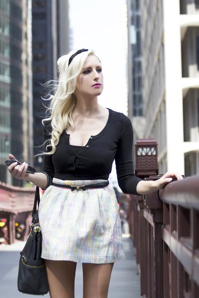 black Olivia  Joy bag - black bow Lulus accessories