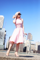 pink gingham voodoo vixen dress - white quilted unique vintage bag