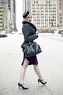 Black-peplum-wool-collectif-jacket-purple-stop-staring-dress