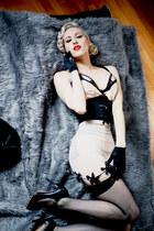 black leopard print OASAP earrings - black Sole Society heels