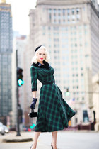 dark green plaid voodoo vixen dress