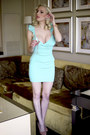 Aquamarine-bodycon-lulus-dress-coral-lulus-pumps