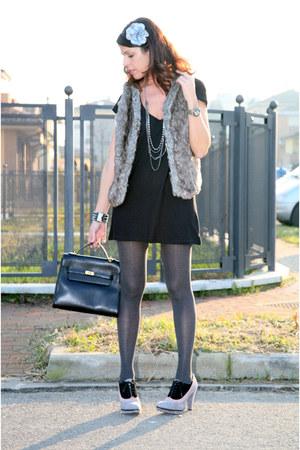 black cotton ChiccaStyle dress - black original kelly kelly bag bag - gray cotto
