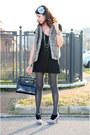 Black-cotton-chiccastyle-dress-black-original-kelly-kelly-bag-bag-gray-cotto