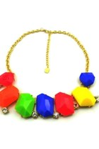 Candy Color Jewel Statement Necklace