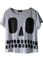 silver boxscoopt-shirt t-shirt