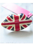 union jack lip ring