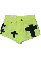 cross print shorts