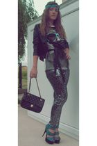 Zara pants - Topshop shoes - New Yorker t-shirt - New Yorker jacket - Chanel pur
