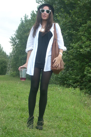 Stradivarius shirt - Bershka dress - Zara shoes - ray-ban sunglasses