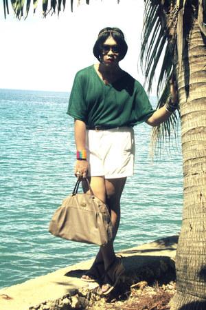 vintage bag - SM shorts - Ray Ban sunglasses - SM top - vintage belt - Parisians
