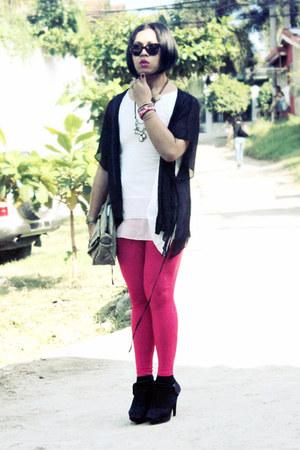 my design leggings - Secosana bag - Maple top - gitti cape - Parisian heels