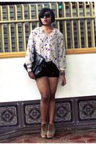 Maple blouse - Parisian bag - SM Dept Store shorts - Parisian wedges