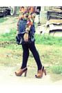 Vintage-blouse-parisian-bag-diy-shorts-prp-clogs