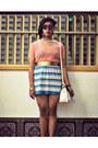 Maple-shirt-parkmall-bag-july-skirt-centropelle-pumps