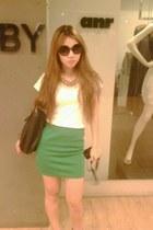 shoes - sunglasses - skirt