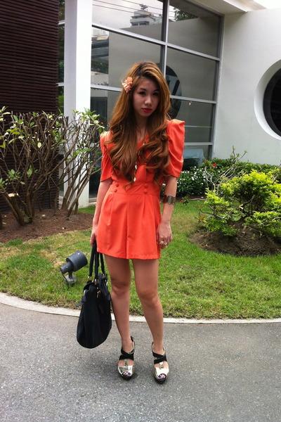 dress - bag - heels
