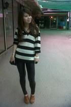 bag - sweater - leggings - shoes