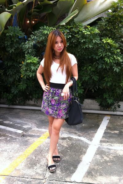 skirt - bag - necklace