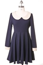 Navy-cotton-chicwish-dress