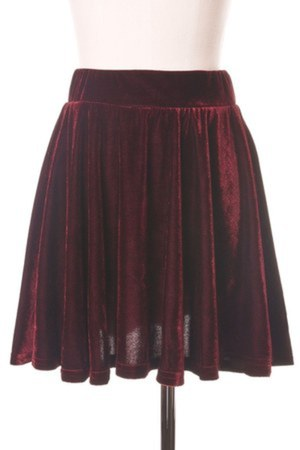 brick red polyester Chicwish skirt