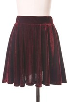 Brick-red-polyester-chicwish-skirt