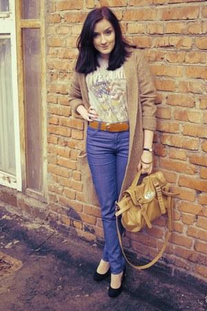 jialitu bag - inario boots - sislye jeans - no name belt - Terranova t-shirt