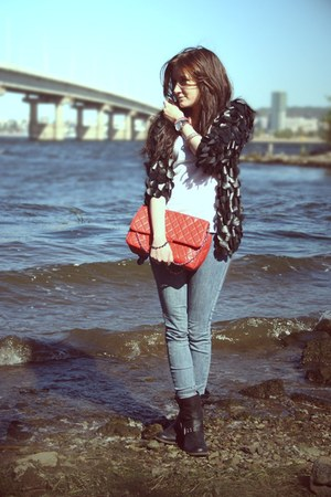 black Vdohnovenie cardigan - black no name boots - navy GJ jeans