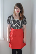 navy modcloth top - red Country Road skirt