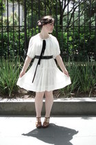 white Lover dress - leather Country Road heels