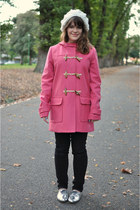 silver oxfords goldenponies shoes - pink duffle Sportsgirl coat - black denim Sp