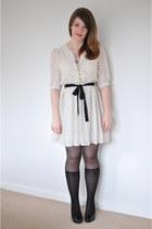 off white Dahlia dress - black sock Sportsgirl stockings - black leather Country