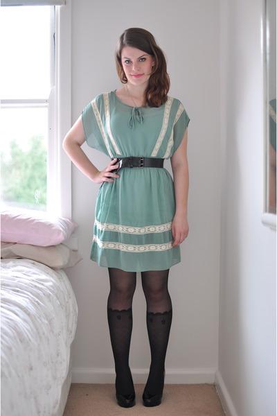 Aquamarine Refresh Mint Modcloth Dresses Black Faux Sock Sportsgirl