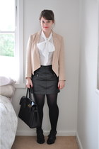 light pink tuxedo Witchery blazer - black bayswater Mulberry bag - black leather