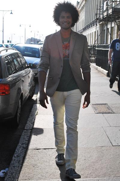 Gap blazer - Guinness t-shirt - Zara jeans - Converse shoes
