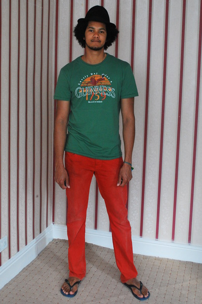 hat - Guinness t-shirt - H&M jeans - Mia Zia bracelet - Mia Zia bracelet - Ipane
