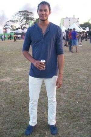 blue merona t-shirt - yellow Zara jeans - blue Topman shoes