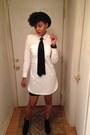 Black-unknown-boots-white-shirt-dress-gap-dress