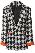 Lois - Monochrome Dog Tooth blazer