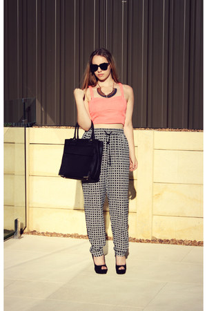 Forever New top - Zara bag - Valleygirl sunglasses - Forever New pants