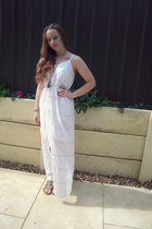 cheep necklace - justjeans dress - Gloss bracelet - Target sandals