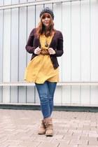 yellow Only blouse - brown Vila jacket - black darth vader Ebay bag