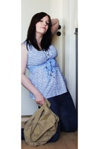 Vero Moda shirt - New Yorker necklace - thrifted scarf - Roxy purse - jeans - sh