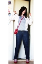 Brave Soul via Ebay jacket - Element shirt - thrifted purse - Mums belt - jeans