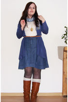 blue Object skirt