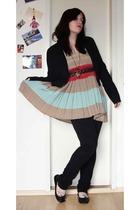 H&M blazer - Diesel skirt - thrifted belt - zoo york pants - Akira shoes - Acces