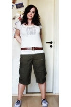 h&m via ebay shirt - Tally Weijl belt - thrifted pants - Etnies via Ebay shoes -